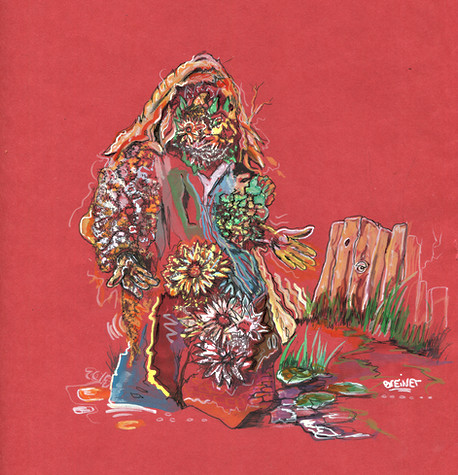 """Flower portrait in Red"", 2019"