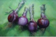 "Kathleen Erin Lee, Quartet, Oil on canvas, 10 x 16"""