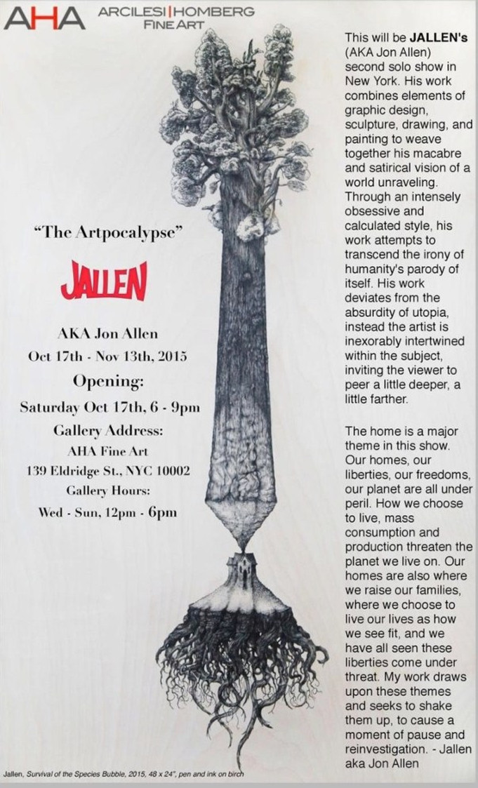 Invitation to JALLENS SOLO SHOW