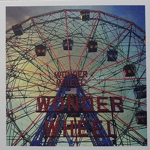 "Ken Jones, Wonder Wheel, 2020, Digital Photo, 8 x 8"" framed"