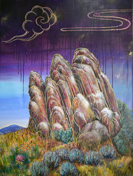 Mediation on the rock, 2016