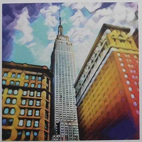"Ken Jones, Empire State Building, 2020, Digital Photo, 8 x 8"" framed"