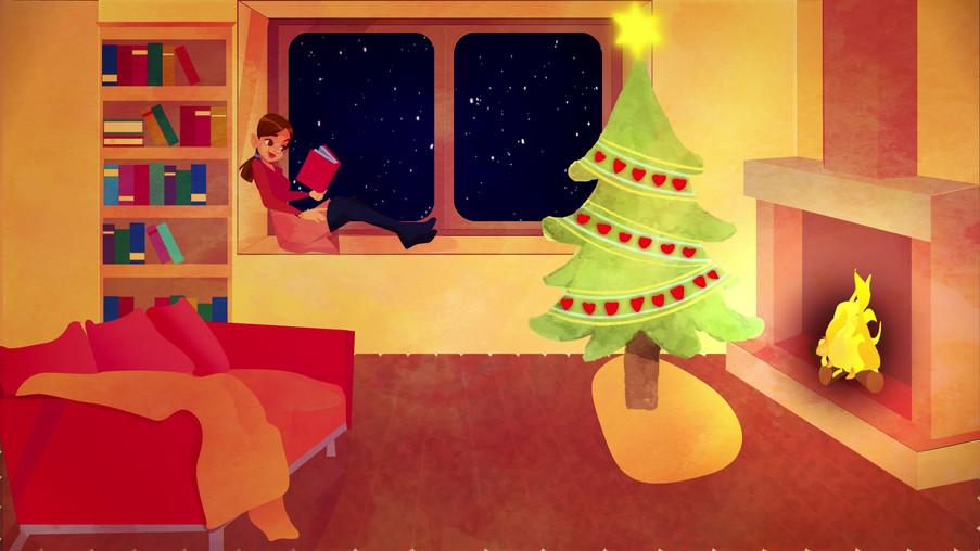 Illustration pour célébrer Noël