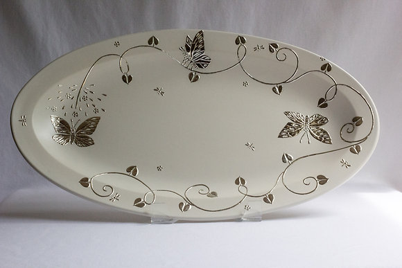 Large Butterfly Oval Platter