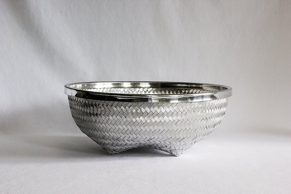 Medium Round Basket with Rim