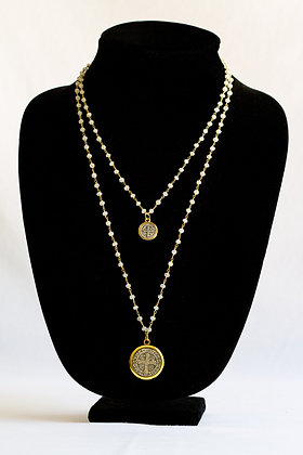 Double Strand Religious Necklace