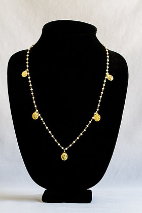 Long Religious Pearl Necklace