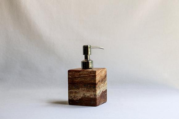 Brown Square Soap Dispenser