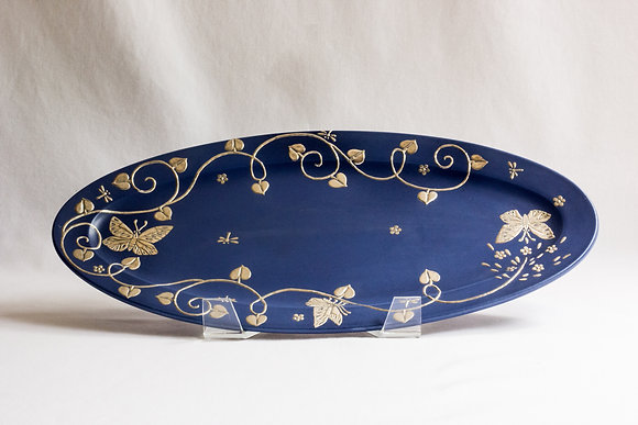 Small Butterfly Oval Platter