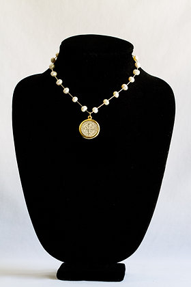 Religious Pearl Necklace