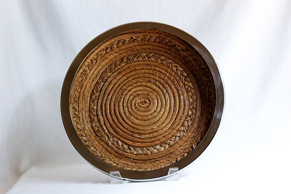 Large Round Basket with nickel