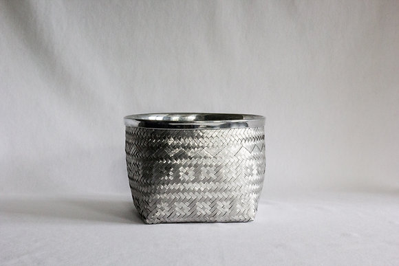 Small Round Basket with Rim