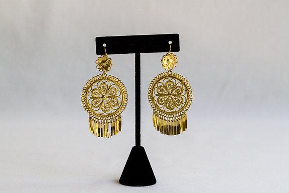 Mexican Earrings (Medium Round)