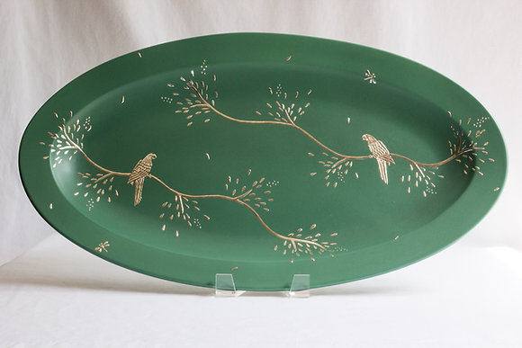 Large Parrot Oval Platter