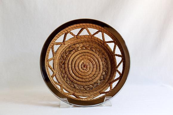 Medium Round Basket with nickel