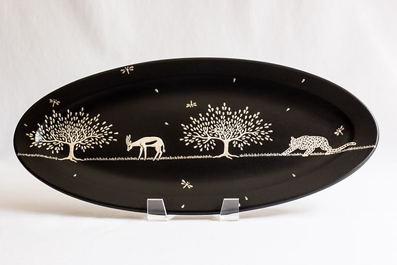 Small Jaguar and Antelope Oval Platter
