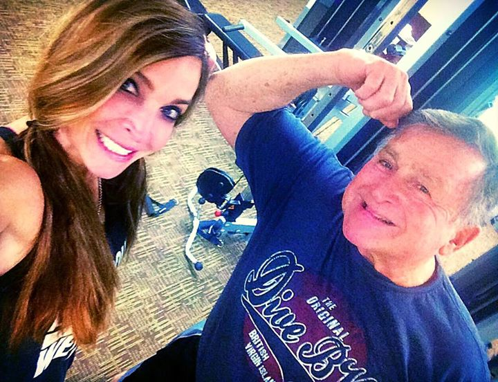 Daddy-daughter time in the gym..