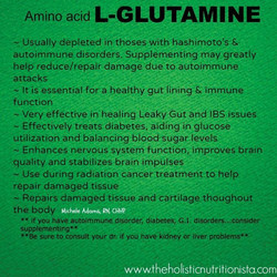 Facebook - Don't forget your Glutamine every day :) benefits of this far exceed
