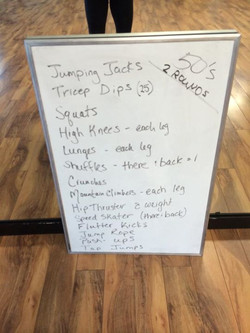 Facebook - Friday morning workout! 💥💥 50 reps for everything but triceps dips.