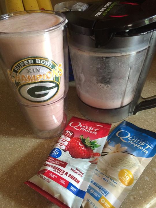 Love Quest's protein shakes..