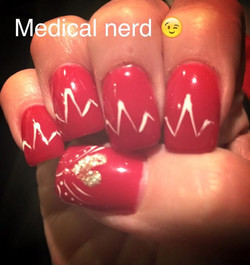 Because I'm a medical nerd 😉 #funwithnails Happy Tuesday! 💛