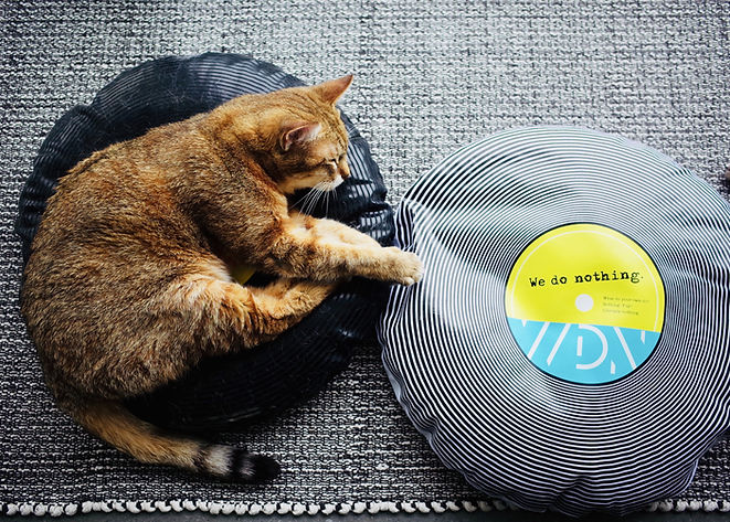 Cat_Beanbag_cushion_black_white_vinyl_mu