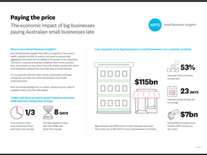 New report: The economic impact of big businesses paying Australian small businesses late.