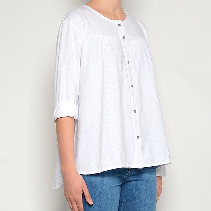 Camisa algodón cuello redondo