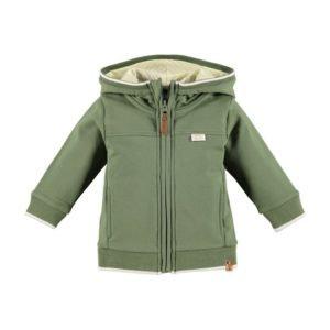 Chaqueta verde con capucha BABYFACE