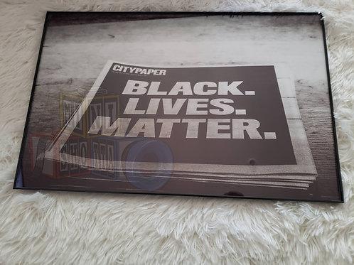 Black Lives Matter Framed Art