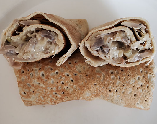 CREPES STUFFED, Mushroom Goat Cheese  5pk
