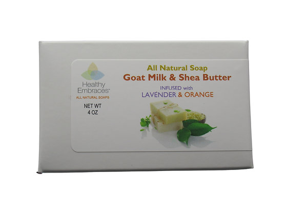 Goat Milk & Shea Butter Soap - Lavender/Orange