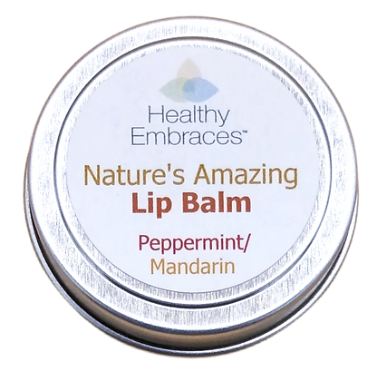 Nature's Amazing Lip Balm Tin - Peppermint/Mandarin