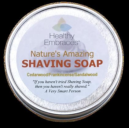 Premium Shaving Soap-Cedarwood/Frankincense/Sandalwood