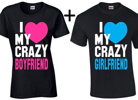 I love my crazy couple's t-shirt