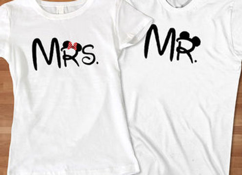 Mrs and Mr t-shirts