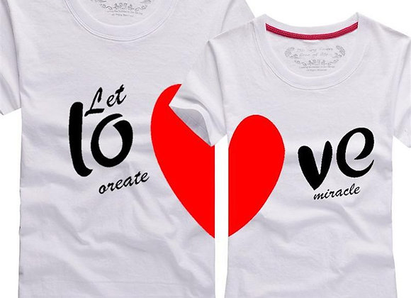 let love create miracle t-shirts