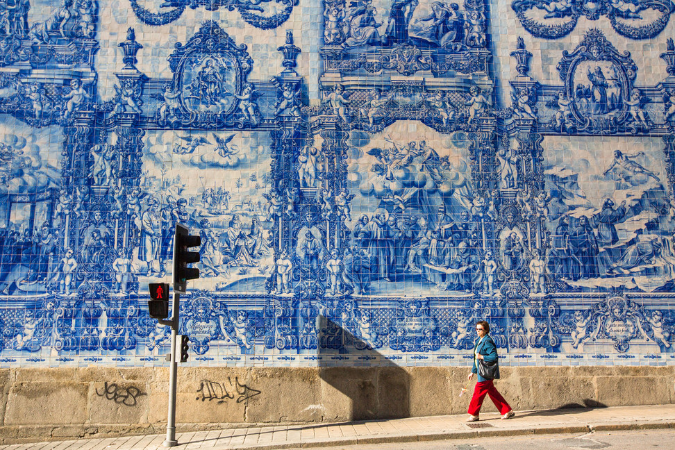 Portugal wall art as an inspiration source for Lateral Objects Beach Towel Design by Stefan Beckman