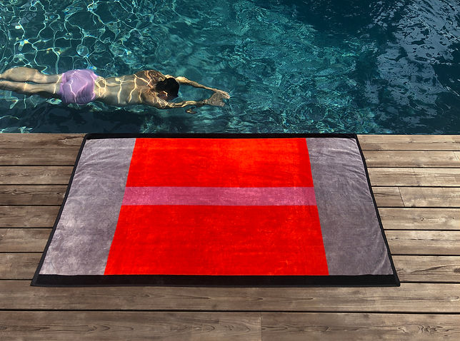 Lateral objects beach towels, designed by Stefan Beckman