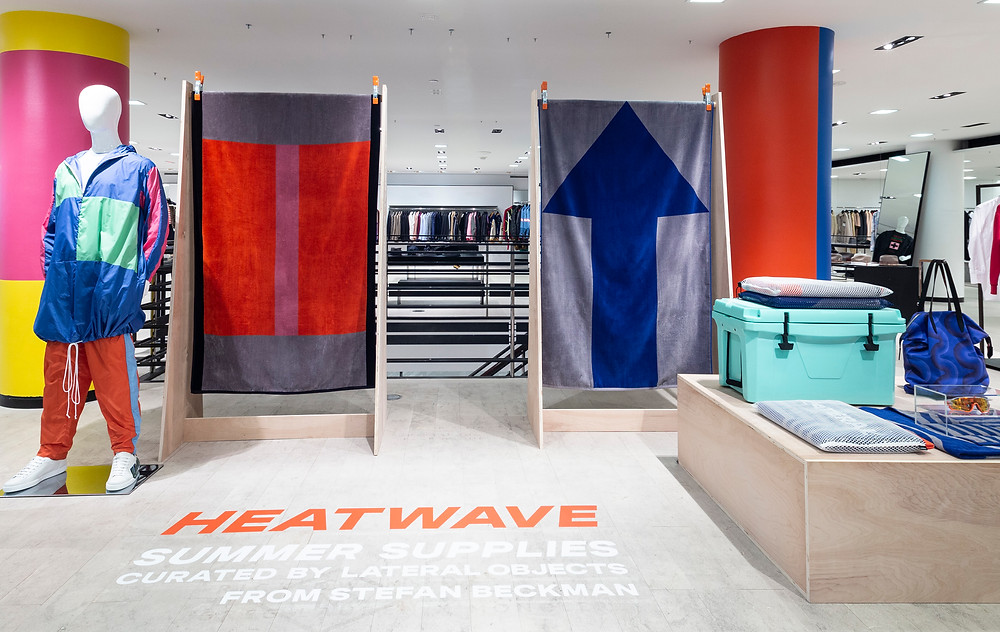 Heatwave Summer Supplies at Barneys NYC, curated by Lateral Objects by Stefan Beckman