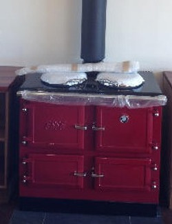 Stove with wetback
