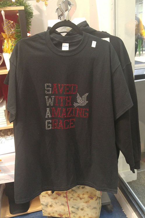 SWAG - Saved With Amazing Grace (Red or Blue Bling)