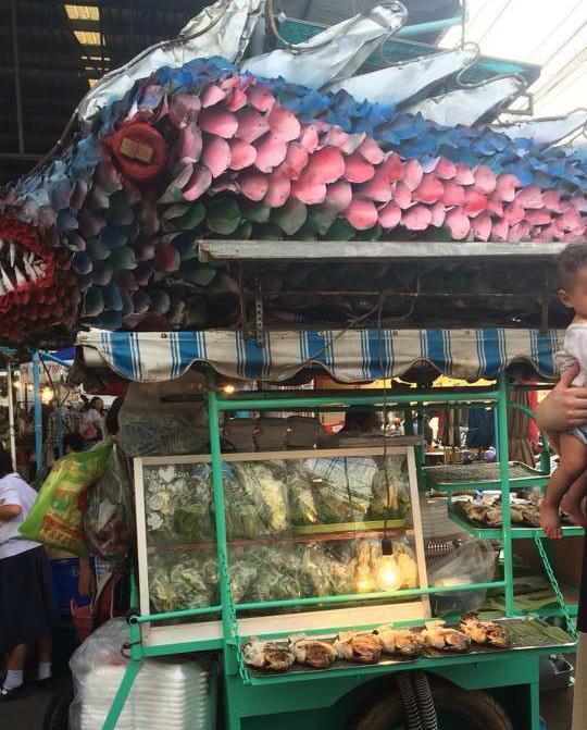 Salt-Grilled Fish, Naklua New Market