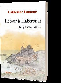 Couverture en 3D de retour à Halstronar, livre 4 du Cycle d'Énora
