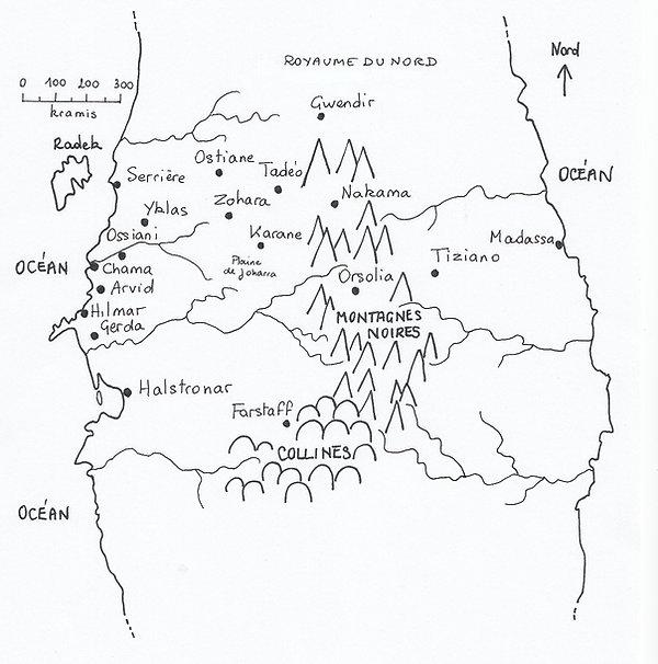 Carte 50 ans avant le traité des cinq royaumes