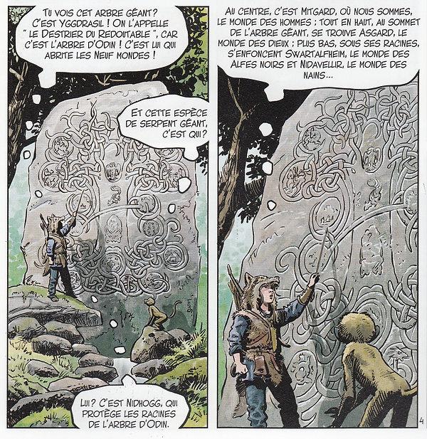 Dans le tome 6 de Louve, la cosmologie scandinave