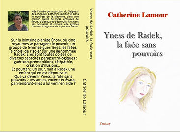 Ancienne couverture d'Yness de Radek, la faée sans pouvoirs. Sans cadre rouge et avec la quatrième de couverture jaune.