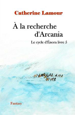 Couverture finalisée du livre 5 : pesronnes marchant dans la glace avec leurs montures.