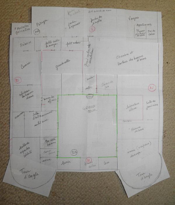 Plan de la citadelle de Farstaff