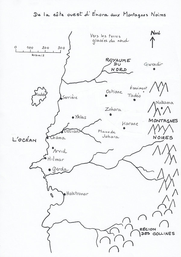 Carte de la côte ouest